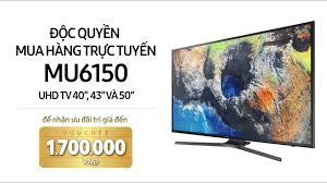 Đánh giá nhanh Smart Tivi 4K Samsung MU6150 - Nguyễn Kim - YouTube