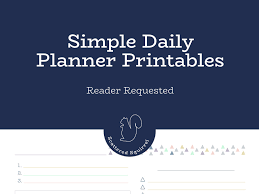 Simple Daily Planner Printables To Keep Your Days Running