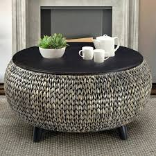 round rattan coffee table image of round rattan coffee table with glass top small brown rattan