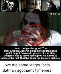 batman facts and joker fact 190 heath ledger designed the dark