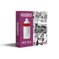 <b>Насадка</b> на член EGZO Hot Red (презерватив с усиками) - FapTime