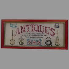 wall art cross stitch reads antiques