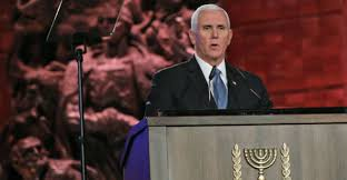 Image result for Pence at Holocaust remembrance