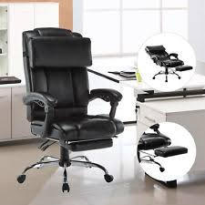 office reclining chair. Executive High Back Leather Reclining Office Chair Ergonomic Footrest Armchair
