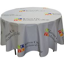 4 diameter round table cover full color