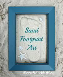sand footprint art