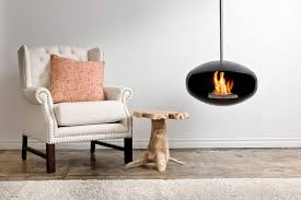 a ceiling mounted ethanol fireplace