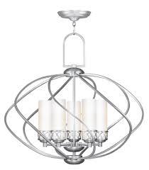 5 light brushed nickel chandelier