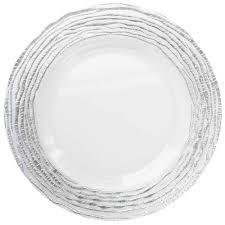 clear glass plates the jay companies 1470321 sl 13 round arizona silver