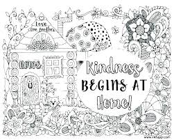 Kindness Coloring Pages Sheets Free Printable Auchmar