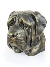 dog ashes big head statue resin