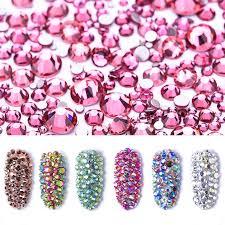 Polairs SMC <b>SS3 SS30 & Mix Size</b> Amethyst <b>Crystal</b> Stone Flat back ...