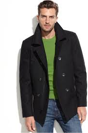 guess wool blend military peacoat