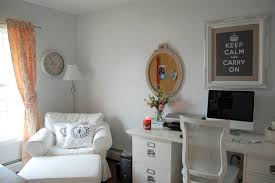 shabby chic home office. dens/libraries/offices - behr snow ballet, shabby chic office, home office n