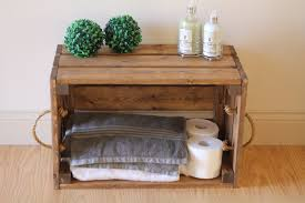 Bathroom Shelf Rustic Wooden Crate Rustic Bathroom Storage Bathroom Shelf