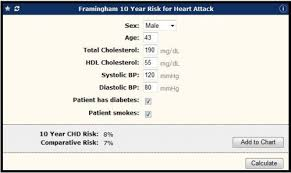 Framingham Risk Score Chart Galen Ecalcs Calculator Framingham Risk For Heart Attack
