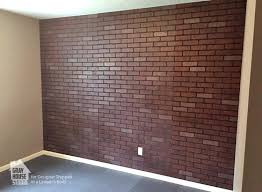 painting over brickwork a faux brick accent wall