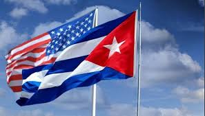 Image result for cuba and US flags