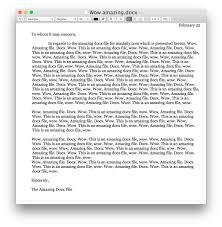 opening a docx file in textedit on mac