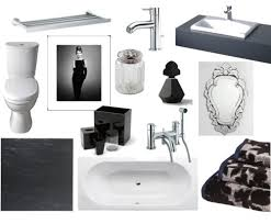 Stylish Black White Bathroom Accessories Black White Bathroom