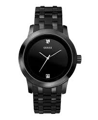 guess men s black ion plated stainless steel bracelet watch 38mm guess men s black ion plated stainless steel bracelet watch 38mm u12604g1