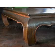 thai teak coffee table with opium table legs kha khu 32 000