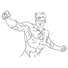 superhero coloring pages printable 2. Exellent Printable Coloring Pages Of Superhero Mr Incredible Hal Jordan Intended Printable 2 E