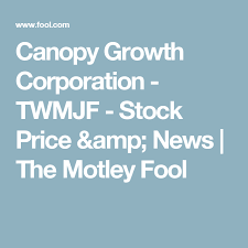 Twmjf Stock Quote Magnificent Canopy Growth Corporation TWMJF Stock Price News The Motley