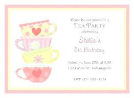 Tea Invitations Printable Garden Tea Party Bridal Shower Invitation Free Printable Kitchen