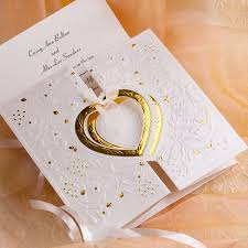 20 best gold wedding invitations images on pinterest gold Affordable Wedding Invitations Columbus Ohio romantic gold and white heart folded wedding invitations Wedding Cakes Columbus Ohio