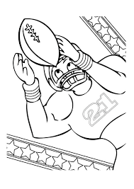 Coloring Pages Of Football Players Football Player Coloring Page