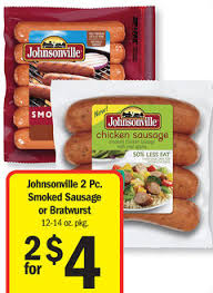johnsonville 2pc smoked sausage or bratwurst 12 14oz 2 00 75 off one johnsonville en or turkey sausage ss 12 8 exp 1 25