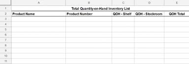 Inventory Cycle Count Excel Template Free Inventory Template How To Track And Count Physical