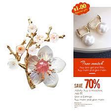 La MaxZa <b>Handmade</b> Flower Brooches for <b>Women Natural</b> ...