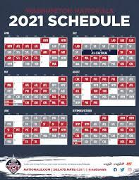 Nationals announce 2021 schedule - MASN ...
