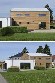 Holzhaus Modern Mit Doppelgarage Und Büro Anbau Einfamilienhaus