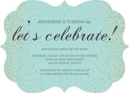 celebration invite blue faux glitter lets celebrate birthday invitation