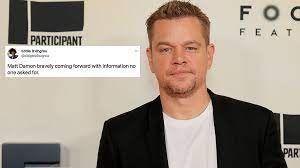 Matt Damon Is Copping A Pasting After ...