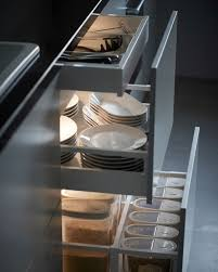 ikea kitchen lighting ideas. a closeup of three welllit kitchen drawers are pulled out install automatic lighting inside cupboards and so items illuminated upon opening ikea ideas c