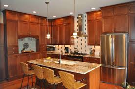 Natural Cherry Cabinets Kitchen Backsplash Ideas With Cherry Cabinets Cabin Kids