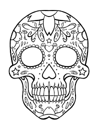 Free Printable Day Of The Dead Coloring Pages Skull Halloween