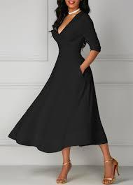 Half Sleeve Pocket Design High Waist Dress Half Sleeve Pocket Design High Waist Dress