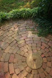 circular brick patio garden paving