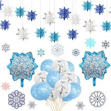 Christmas Snowflakes Pictures Us 0 76 28 Off Frozen Party Christmas Snowflakes Decorations 3d Hollow Snowflake Paper Garland Christmas Wall Hanging Decoration Winter Party In