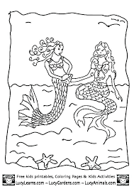 Coloring Pages Free Mermaids Coloring Pages Anime To Print For