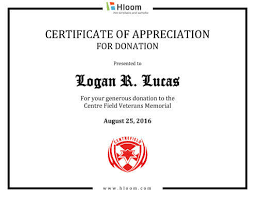 Appreciation Certificates Wording