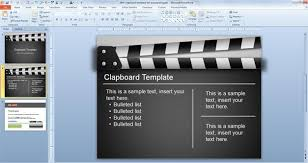 Movie Powerpoint Template Free Clapboard Powerpoint Template Free Powerpoint