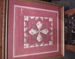 Framed quilts | Etsy & Vintage Framed Quilt, (# 939) Adamdwight.com