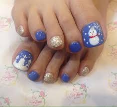 フットネイル 冬ネイル 雪だるま 雪景色nail Salon S Traum所属