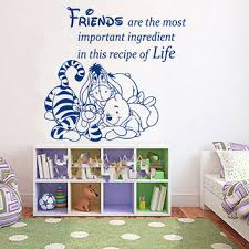 winnie the pooh wall decal e friends are the most important vinyl decals mural home bedroom